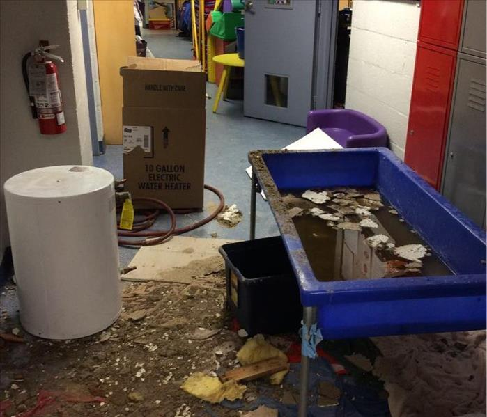 Hot Water Heater Bursts Through Waltham Church's Ceiling Before